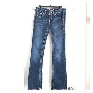 Express Dark Blue Jeans with design pocket